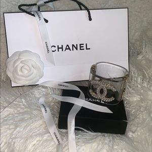 Authentic CHANEL pearl cuff